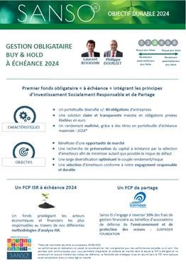 Sanso Objectif Durable 2024 A